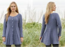 Lobelia knitted cable jacket | the knitting space