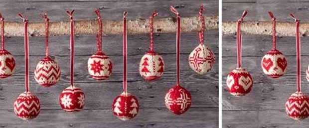 merry Fair Isle knitted ornaments | the knitting space
