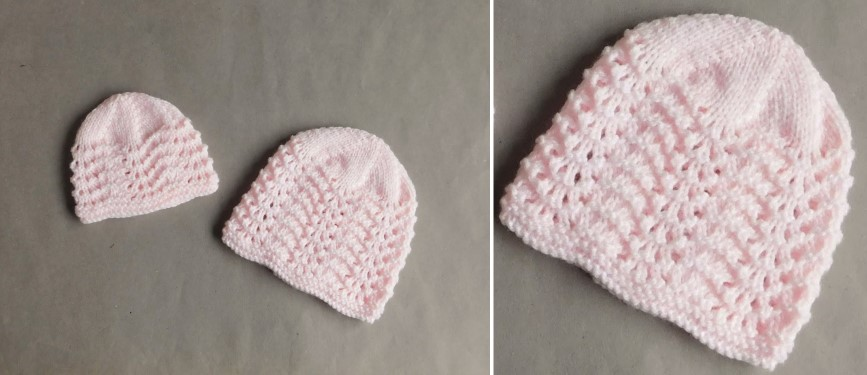 Knitting Pattern For Lace Baby Hat : Old Shale Lace Knitted Baby Hat [FREE Knitting Pattern]