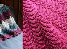 Project Linus knitted security blanket   the knitting space