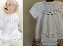royal knitted baby dress   the knitting space