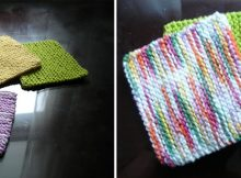 simple knitted garter stitch coasters | the knitting space