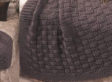 simply comfy knitted afghan | the knitting space