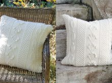 Snow Beads knitted pillow | the knitting space