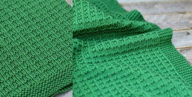 Stylish Knitting Patterns : Stylish Cambrie Knitted Baby Blanket [FREE Knitting Pattern]