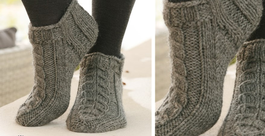 Alaska Knitted Ankle Socks [FREE Knitting Pattern]