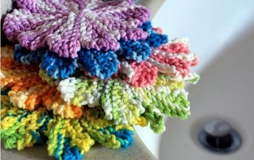almost lost mini knit washcloths | the knitting space