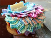 almost lost knitted washcloth | the knitting space