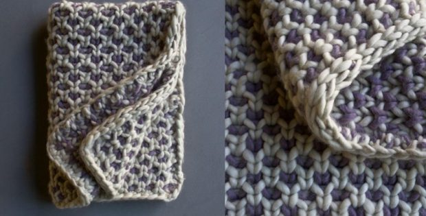 Beautyberry knitted blanket | the knitting space