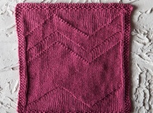 knit big zig dishcloth | the knitting space