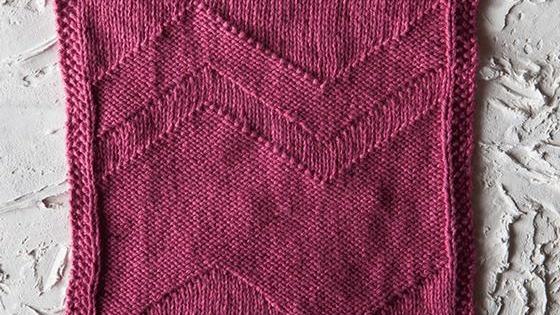 knit big zig dishcloth   the knitting space