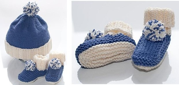 knitted Nicki baby bobble hat | the knitting space