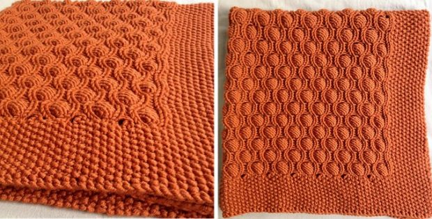 bubble knitted baby blanket | the knitting space