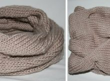 Burberry inspired knitted cowl | the knitting space