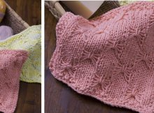 knit butterfly wash cloth | the knitting space