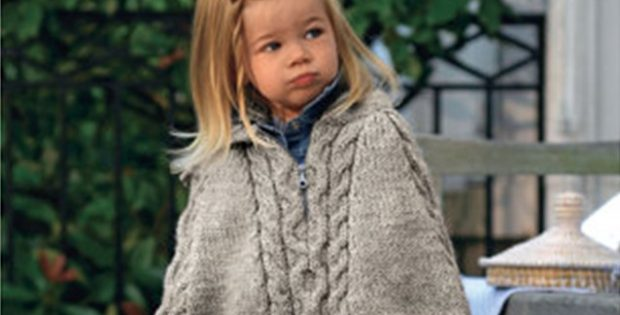 chunky knitted cabled cape | the knitting space