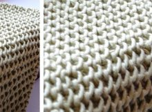 Chinese waves knitted dishcloth | the knitting space