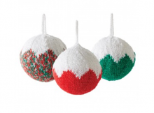 classic knitted Christmas tree ornaments | the knitting space