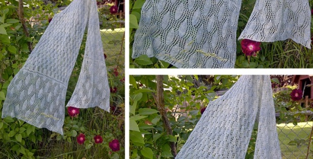knit cosy lace scarf | the knitting space