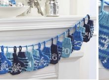 knitted countdown garland | the knitting space