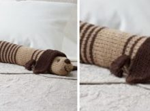 knitted doggy draft dodger | the knitting space