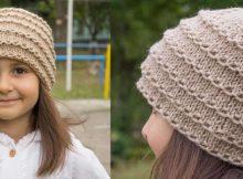 stylish knitted ridge beanie   the knitting space