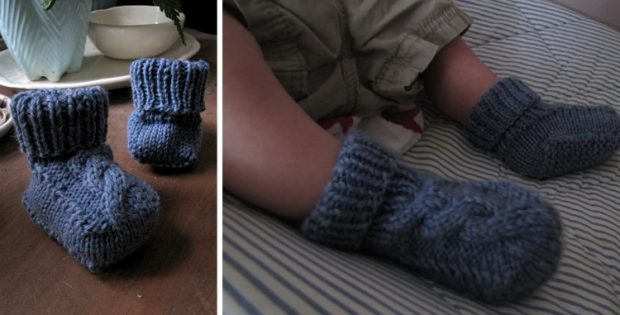 Epipa knitted baby booties | the knitting space