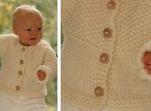 Eskimo knitted baby cardigan | the knitting space