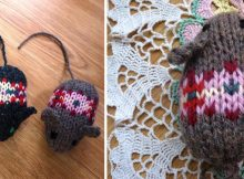 cute knitted Fair Isle mice | the knitting space