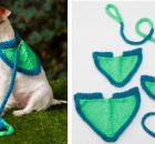 Flashy knitted dog leash | the knitting space