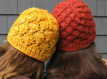 Foliage knitted lace beanie | the knitting space