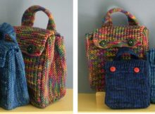 fun little knitted treat bags | the knitting space