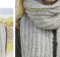 grey mist knitted ribbed scarf   the knitting space