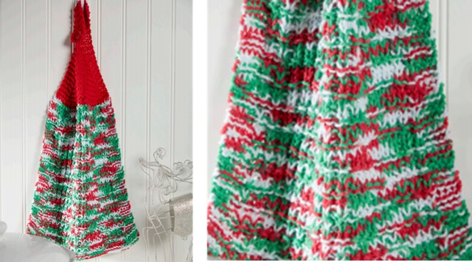 Mens Scarf Knitting Pattern Free : Holiday Knitted Dish Towel [FREE Knitting Pattern]