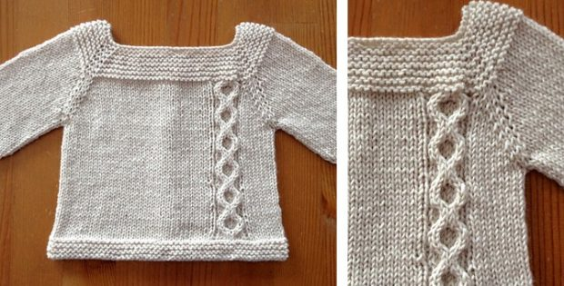 Jeudi knitted baby sweater | the knitting space