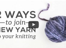 joining yarn when knitting | the knitting space
