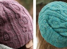 Stylish pome knitted cable beanie | The Knitting Space