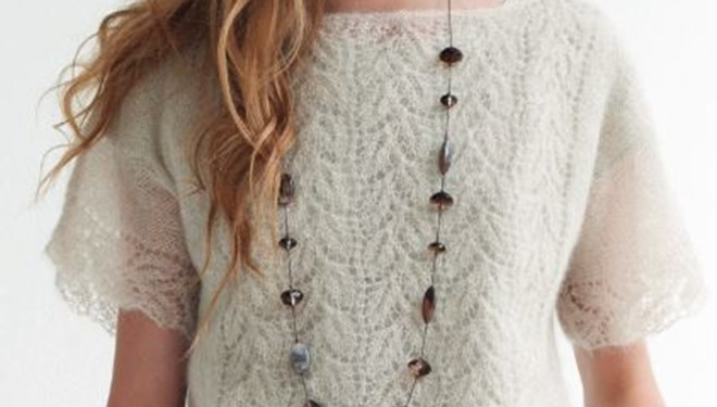 Knitting Pattern For Lace Top : Knit Lace Top [FREE Knitting Pattern]