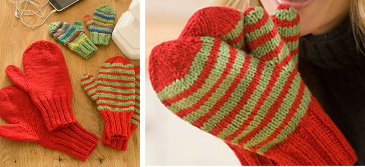 Free Knitting Patterns For Mittens In The Round : Knitted Mittens For The Family [FREE Knitting Pattern + Video Tutorial]
