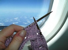 bringing knitting supplies on the plane | the knitting space
