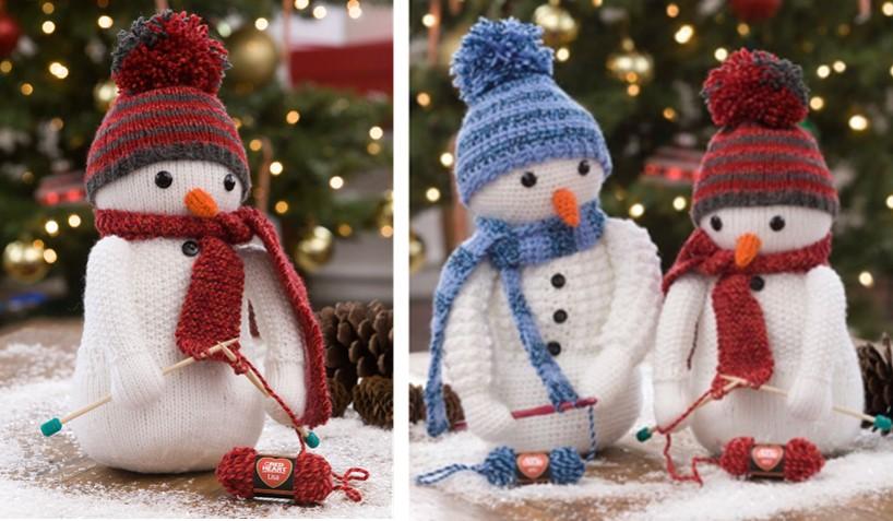Adorable Knitting Snowman [FREE Knitting Pattern]