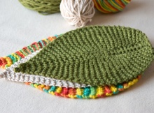 delightful knitted leafy washcloth | the knitting space