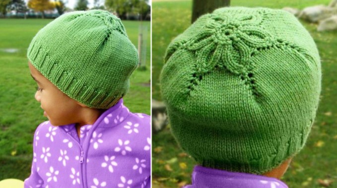 Small Flower Knitting Pattern : Knitted Little Flower Hat [FREE Knitting Pattern]