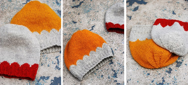 Scallop Knitting Pattern : Little Scallops Knitted Beanies [FREE Knitting Pattern]