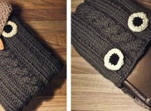 owlish knitted netbook sleeve | the knitting space