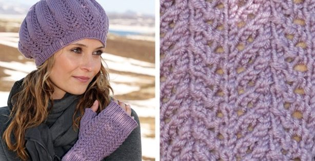 purple rhapsody knitted hat | the knitting space