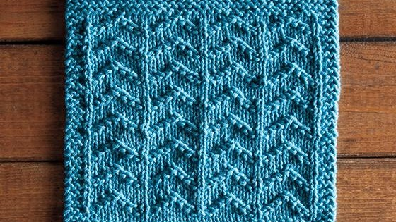 knit ripples dishcloth | the knitting space
