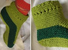 knitted Robin Foot slippers | the knitting space
