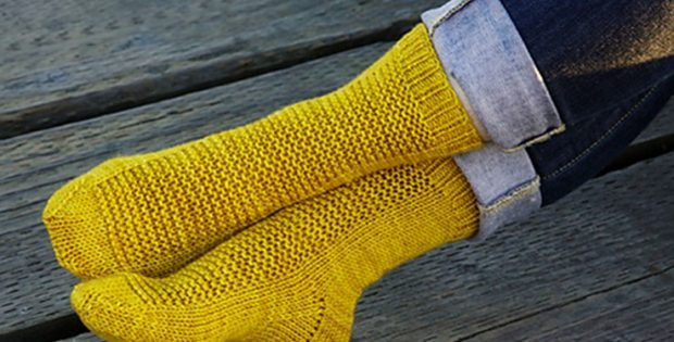 simple rye knitted socks | the knitting space