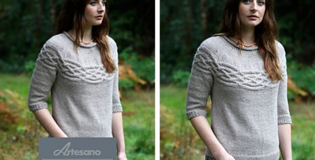 knitted Sandhurst sweater | the knitting space